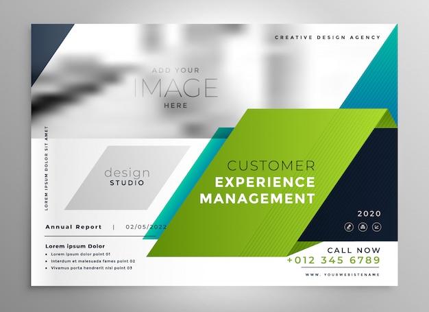 Plantilla de presentación de folleto con estilo abstracto vector gratuito
