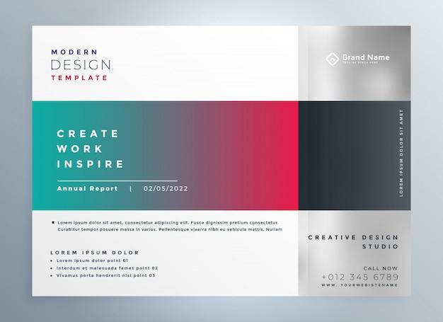 Plantilla de presentación de folleto de negocios moderno y elegante vector gratuito