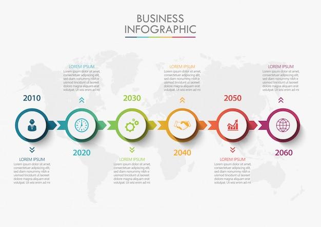 Plantilla de presentación de negocios infografía Vector Premium