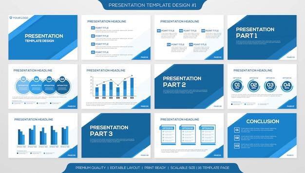 Plantilla de presentación de negocios Vector Premium
