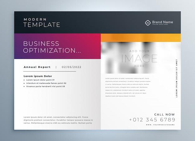 Plantilla profesional de presentación de folleto comercial moderno vector gratuito
