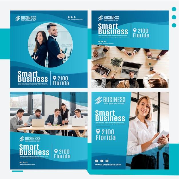 Plantilla de publicación de instagram de negocios inteligente vector gratuito