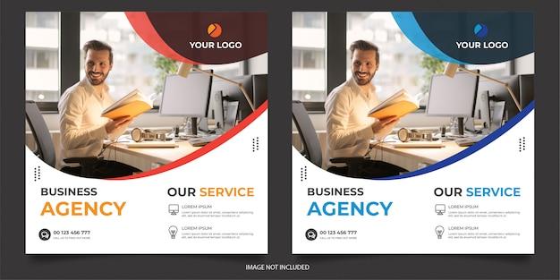 Plantilla de publicación de redes sociales de agencia digital Vector Premium