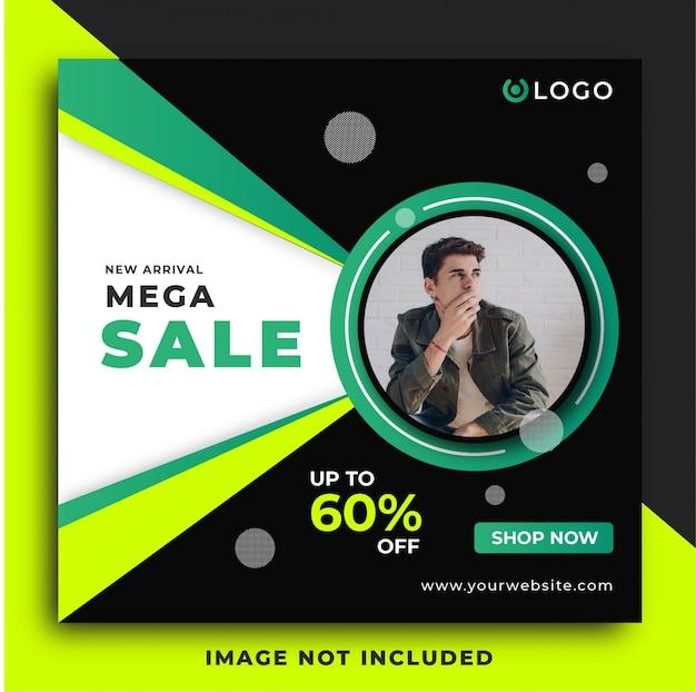 Plantilla de publicación de redes sociales de hombre moda venta Vector Premium