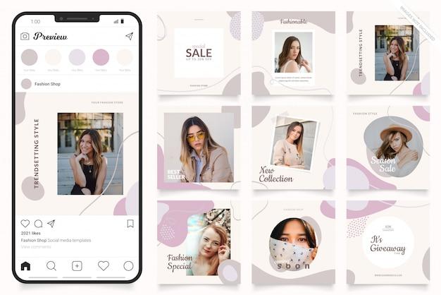Plantilla de publicidad en redes sociales para historias de instagram y banner de facebook Vector Premium