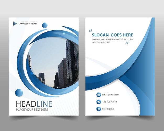 Plantilla redonda azul moderna de reporte anual | Descargar ...