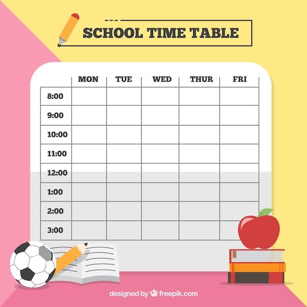Plantilla rosa y amarilla de calendario escolar | Descargar Vectores ...