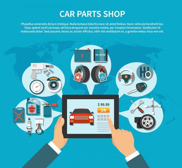 Plantilla de servicio de neumáticos vector gratuito