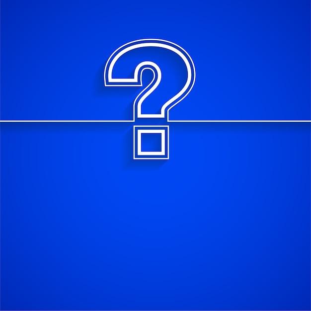 Plantilla de signo de interrogación para la página de ayuda y soporte vector gratuito