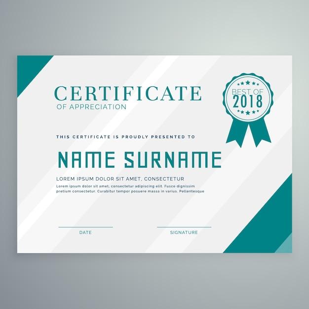 Plantilla simple de certificado de logro | Descargar Vectores gratis