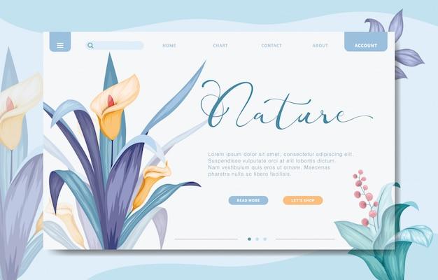 Plantilla de sitio web de marca de diseño moderno Vector Premium