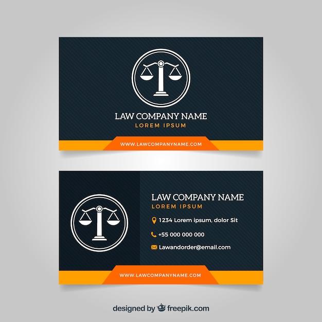 Plantilla tarjeta de abogado vector gratuito