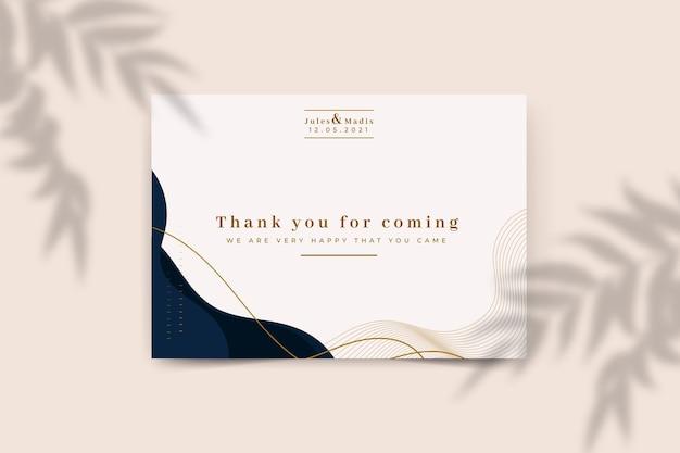 Plantilla de tarjeta de agradecimiento por asistir vector gratuito