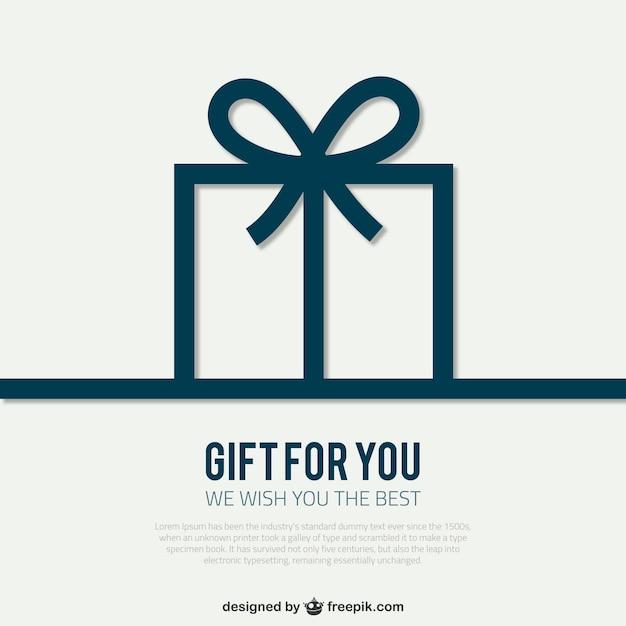 Plantilla de tarjeta con caja de regalo vector gratuito
