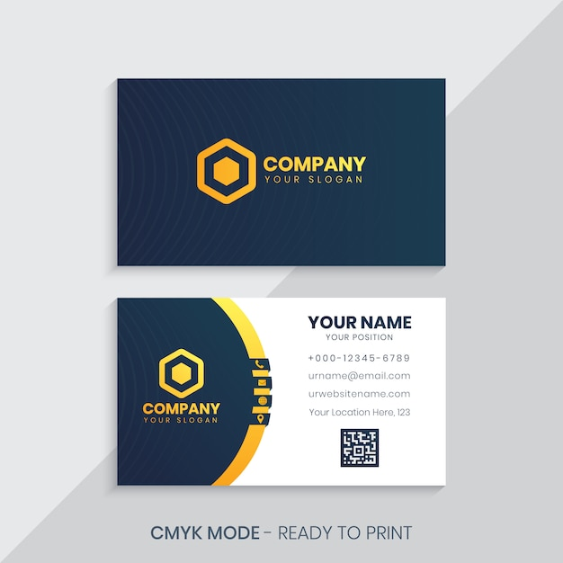 Plantilla de tarjeta corporativa Vector Premium