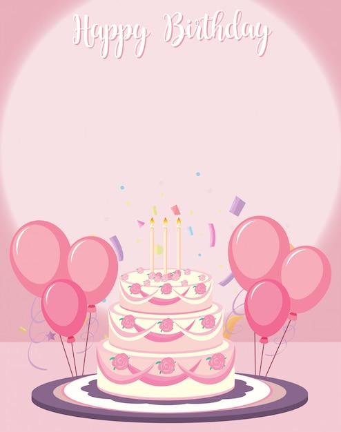 Una plantilla de tarjeta de cumpleaños vector gratuito