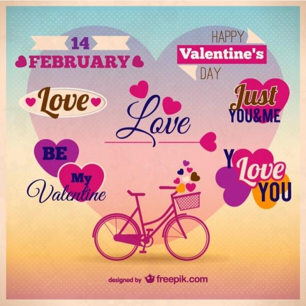 Plantilla De Tarjeta Para Día De San Valentín Vector Gratis