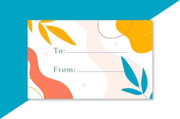 Plantilla de tarjeta de etiqueta de formato de regalo vector gratuito