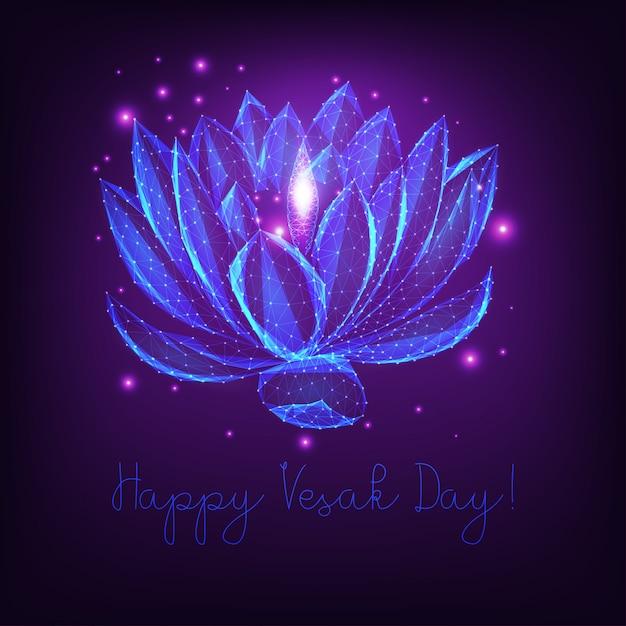 Plantilla de tarjeta de felicitación del día feliz vesak Vector Premium