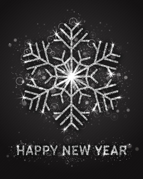 Plantilla de tarjeta de felicitación de feliz año nuevo Vector Premium