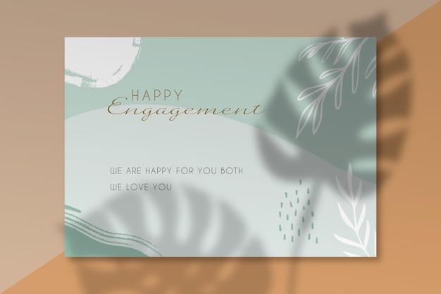 Plantilla de tarjeta de feliz compromiso vector gratuito