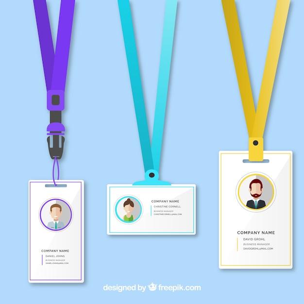 Plantilla de la tarjeta de identificacin Descargar Vectores gratis