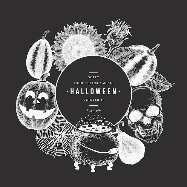 Plantilla De Tarjeta De Invitación De Fiesta Feliz Halloween