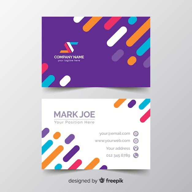 Plantilla de tarjeta de líneas de negocios de lujo vector gratuito