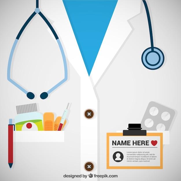 Plantilla de tarjeta de médico vector gratuito