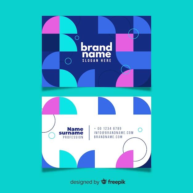 Plantilla de tarjeta de negocio creativa vector gratuito