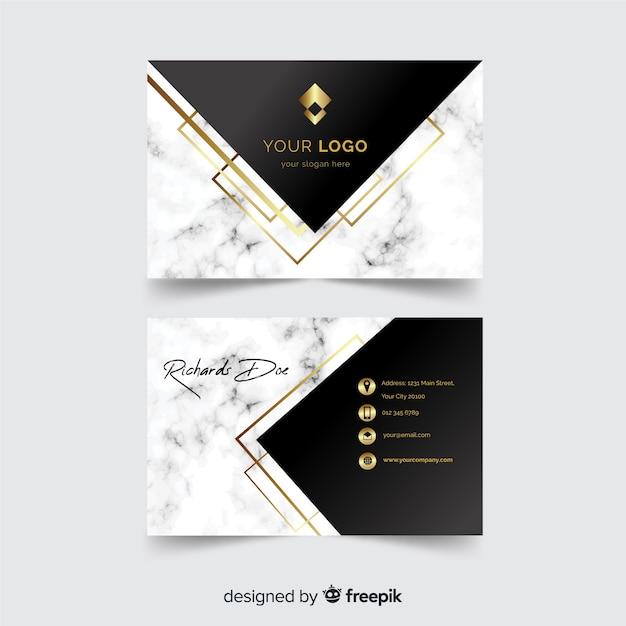 Plantilla de tarjeta de negocio elegante vector gratuito