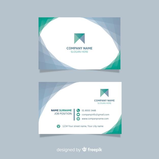 Plantilla de tarjeta negocio vector gratuito