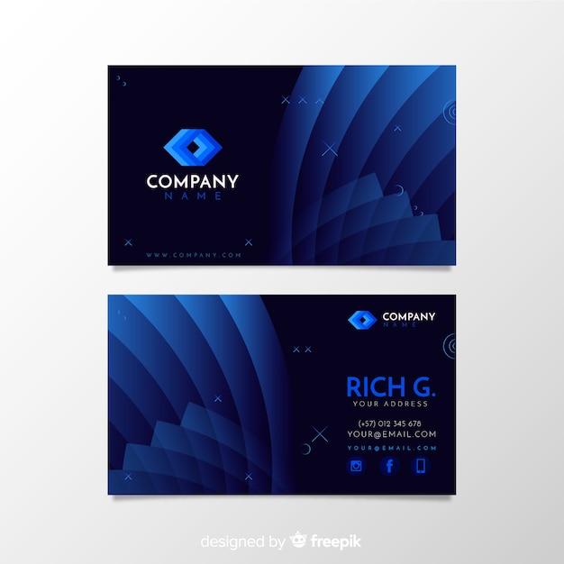 Plantilla tarjeta de negocios formas abstractas vector gratuito