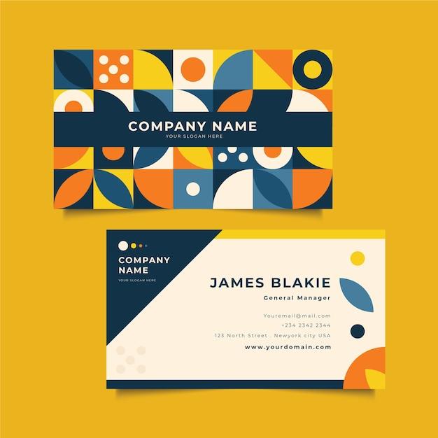 Plantilla de tarjeta de presentación creativa vector gratuito