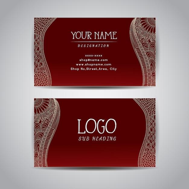plantilla de tarjeta de presentación roja descargar vectores gratis
