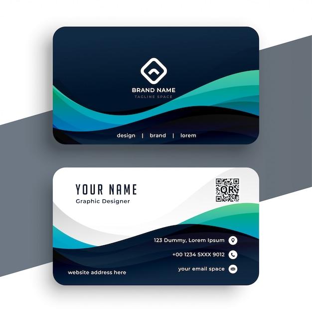 Plantilla de tarjeta profesional azul abstracta vector gratuito