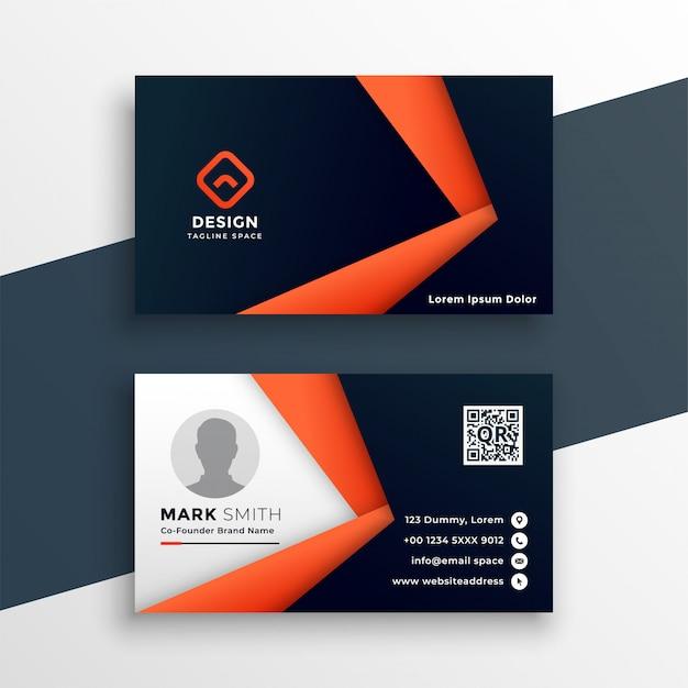 Plantilla de tarjeta profesional geométrica vector gratuito