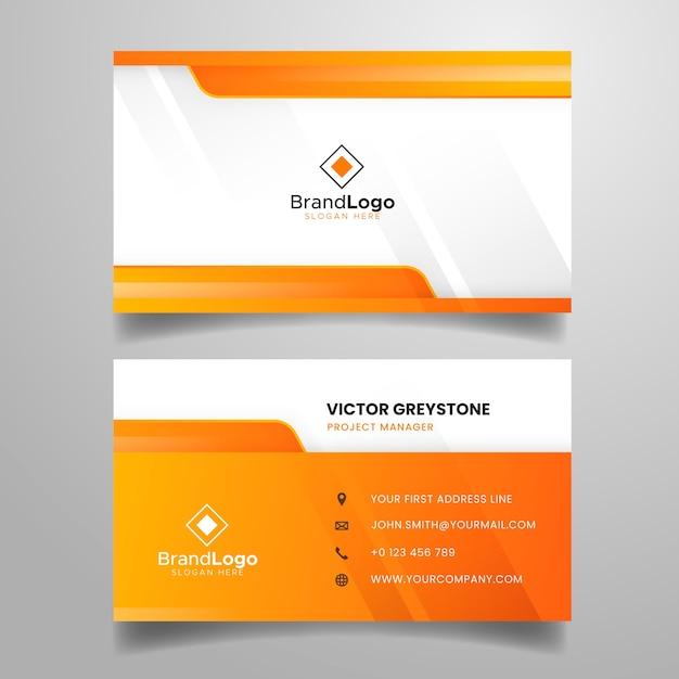 Plantilla de tarjeta de visita abstracta colorida vector gratuito
