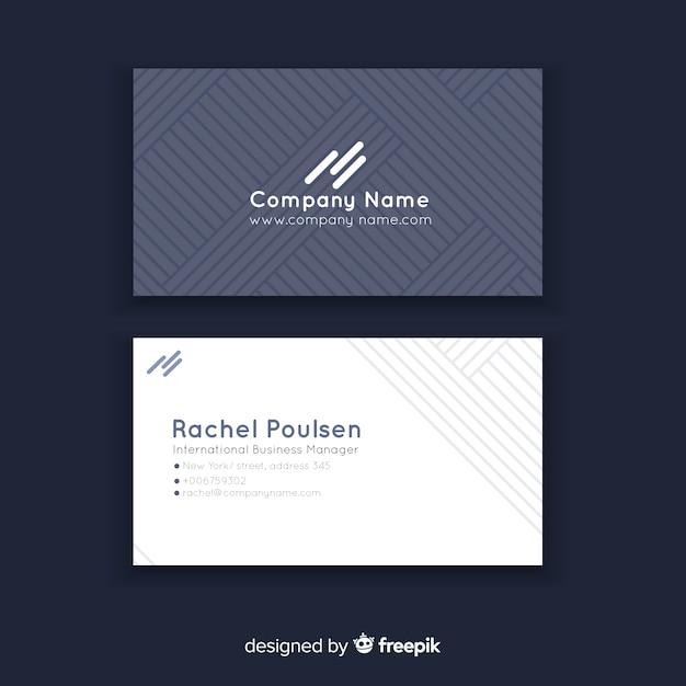 Plantilla de tarjeta de visita abstracta con formas geométricas vector gratuito