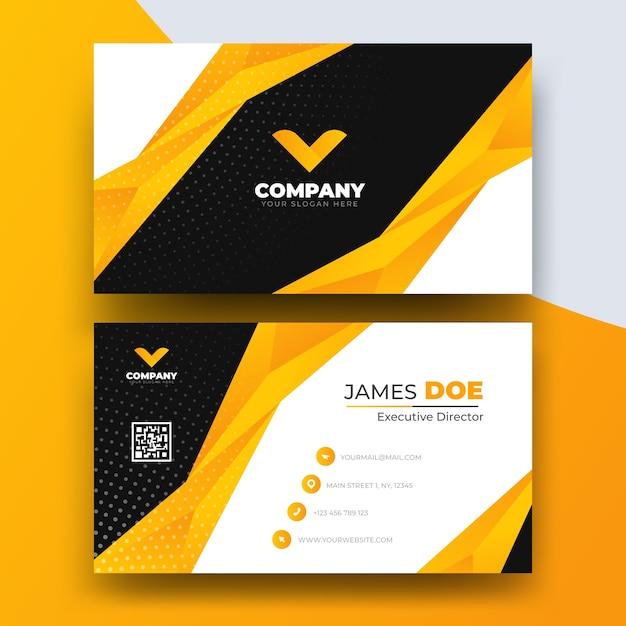 Plantilla de tarjeta de visita abstracta con logo vector gratuito