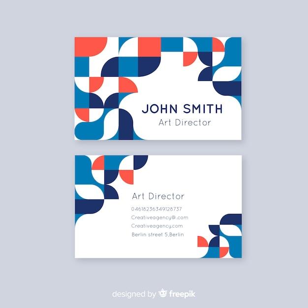 Plantilla de tarjeta de visita abstracta plantilla de tarjeta de visita abstracta vector gratuito