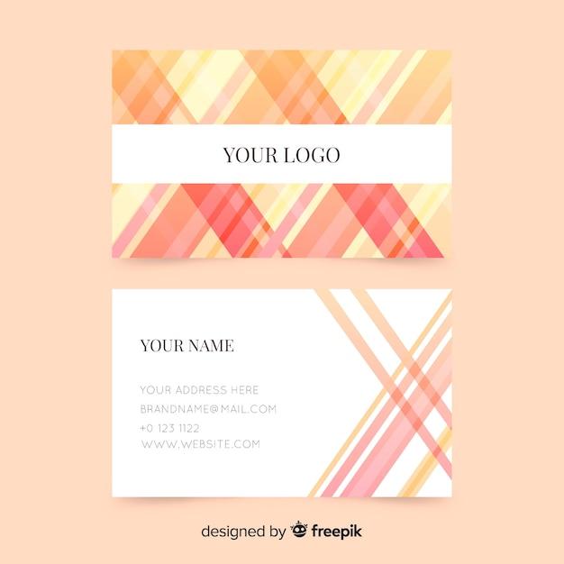 Plantilla de tarjeta de visita abstracta y rayada vector gratuito