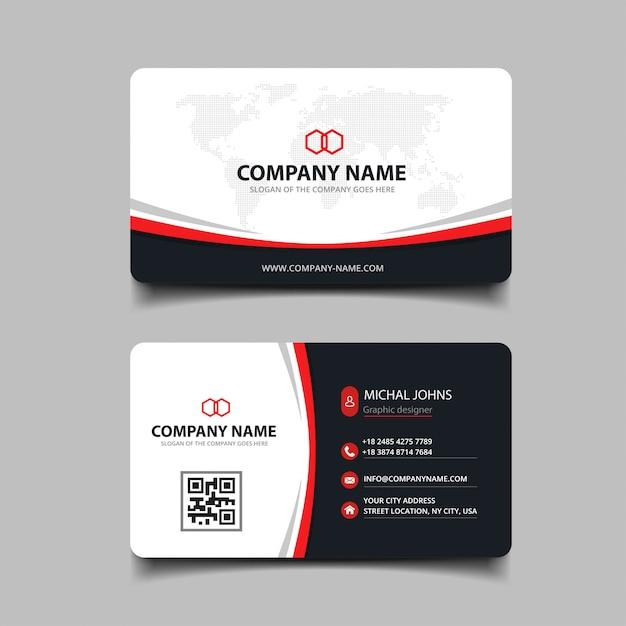 Plantilla de tarjeta de visita abstracta Vector Premium