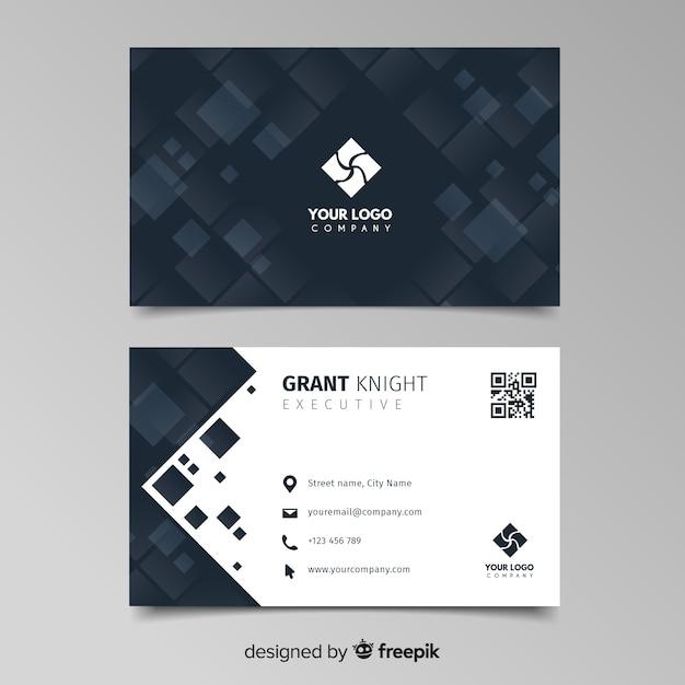 Plantilla de tarjeta de visita abstracta vector gratuito