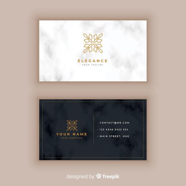Plantilla de tarjeta de visita clásica y elegante vector gratuito