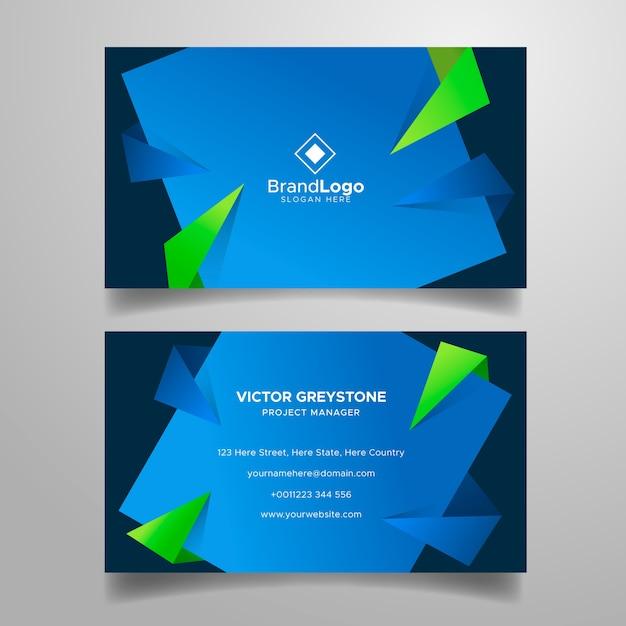 Plantilla de tarjeta de visita colorida vector gratuito