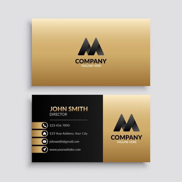 Plantilla de tarjeta de visita corporativa moderna Vector Premium