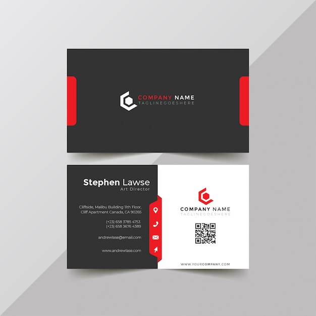 Plantilla de tarjeta de visita corporativa Vector Premium