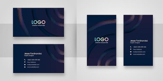 Plantilla de tarjeta de visita de corte de papel abstracto Vector Premium