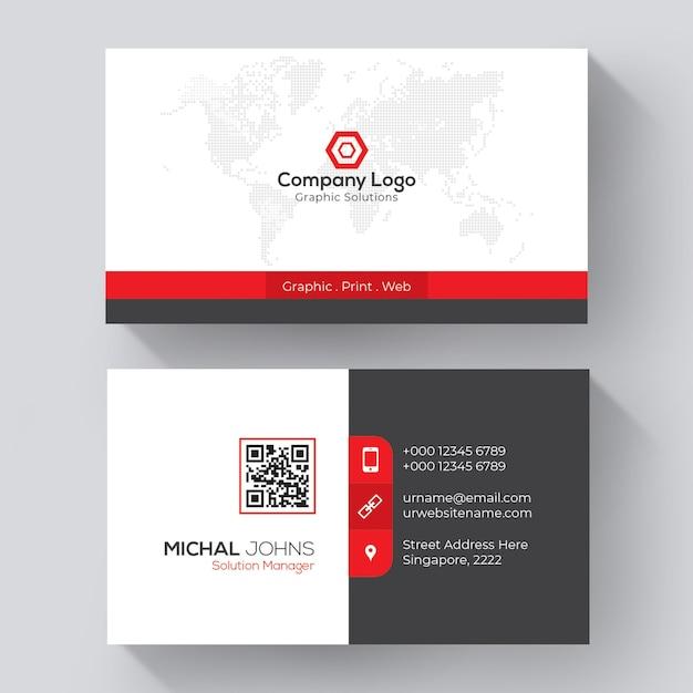 Plantilla de tarjeta de visita creativa vector gratuito